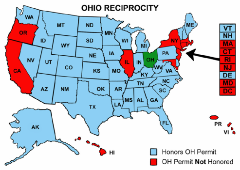Apply For CCW - Handgunlaw us ccw map