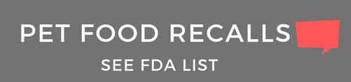 FDA Pet Food Recall Banner | Golf Rose Animal Services