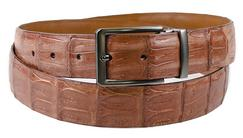Caiman Crocodile Matte Belt