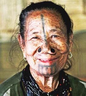 Apatani Tribal lady of Arunachal Pradesh