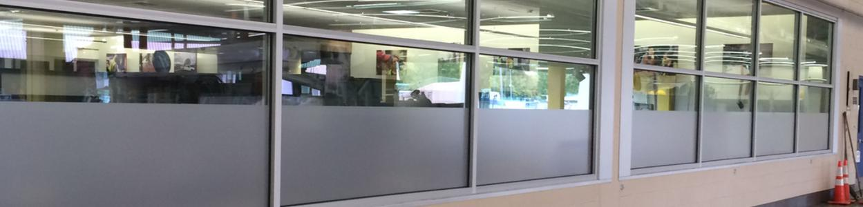 Decorative frost film for Avista office privacy