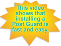 Video on Post Guard Installation