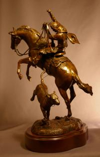 Western art bronze sculptures