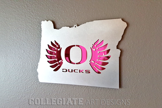 Oregon_O_Wings_Pink_Wall_Plaque_University_Brushed_Aluminum