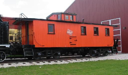 A former Milwaukee Road cupola caboose at the US National Railroad Museum in Green Bay, Wisconsin. Photo by Sean Lamb.