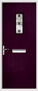 Cottage Rectangle Composite Door aspen glass