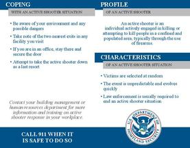 Active Shooter - Pocket Card Information