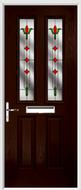 2 panel 2 square composite door fleur de lys glass
