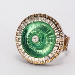 Carol Holaday - Poseidon's Ring - glass and silver