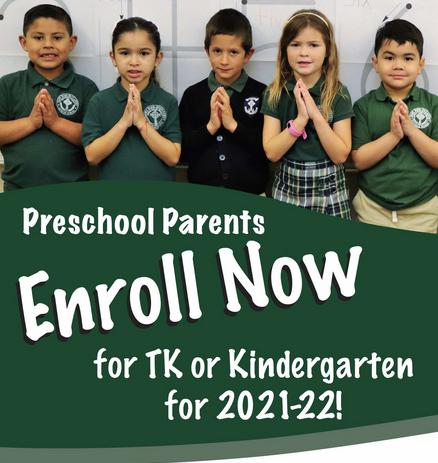 Enroll in TK or Kindergarten in Hanford, CA
