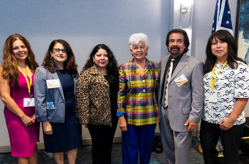 LIT Board of Directors with Congresswoman Grace Napolitano (L to R) Elba Higueros, Alva Carrasco, Aida B. Berry, Milo Victoria and Aurora (AJ) Jackson