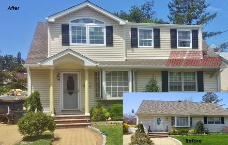 Before and after - Home addition in Passaic county, home renovation, home remodel, Passaic county contractor, Passaic county builder