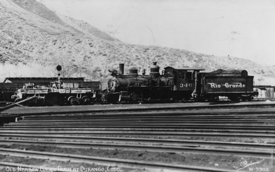 Locomotive No. 346 at Durango, Colorado, circa 1951.