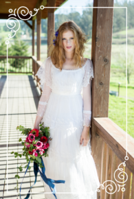 A very boho chic bride