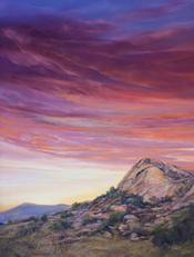 Rich Promise of A New Day, pastel landscape painting by Lindy C Severns