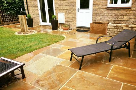 Indian sandstone patio in Frome