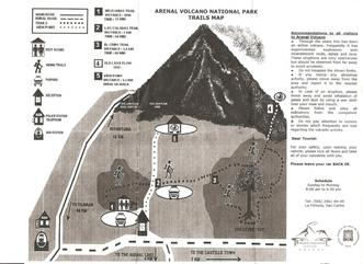Volcano Arenal National Park Map