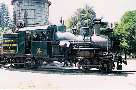 Roaring Camp and Big Trees Narrow-Gauge Railroad No. 2, the Tuolumne, a two-truck Heisler locomotive.
