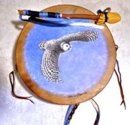 a painted 12 inch drum from thunder valley drum