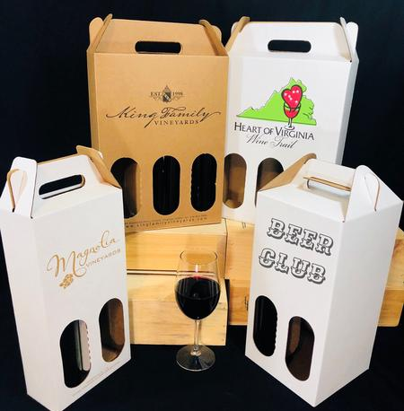 Wine Bottle Totes Custom printed