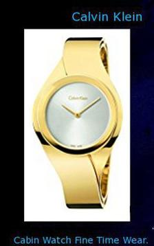 Product specifications Watch Information Brand, Seller, or Collection Name Calvin Klein Part Number K5N2S526 Model Year 2015 Item Shape Round Dial window material type Mineral Display Type Analog Clasp Push Button Case material Stainless steel Case diameter 34 Case Thickness 8 Band Material gold-plated Band length 5.5 inches Band width 15 millimeters Band Color Gold Dial color Silver Bezel material Fixed Item weight 4.54 Grams Movement Swiss quartz Water resistant depth 30 Meters,calvin klein canada