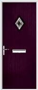 Cottage Diamond Composite Door aspen glass