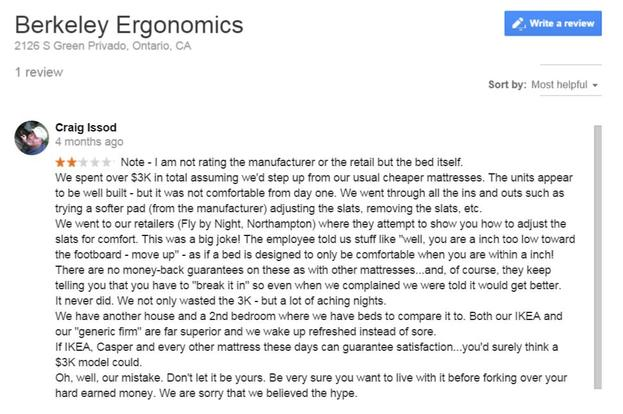 Berkeley Ergonomics foundation review