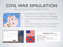 Online Civil War Simulation Lesson Plan