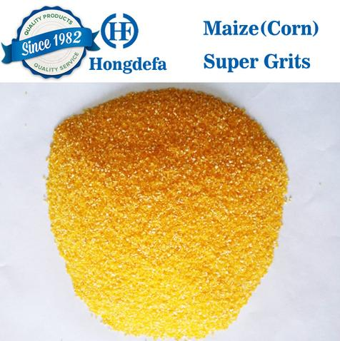 maize grits from maize milling plant