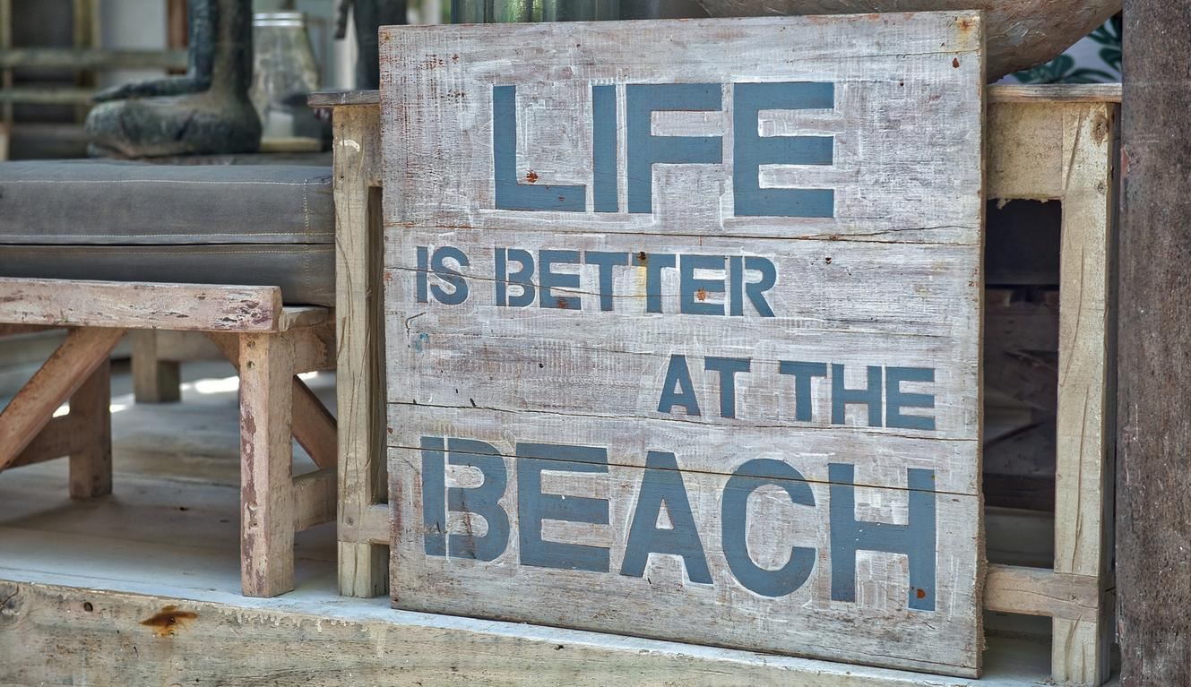Life is better at the beach - image on philipoldfield.com