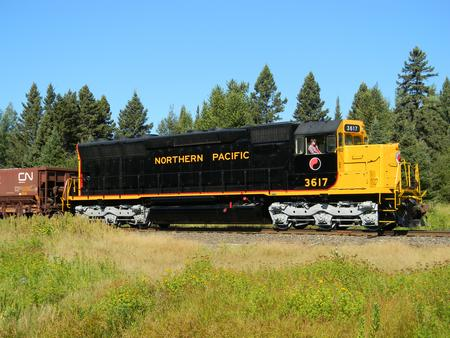 NP 3617 on the North Shore Scenic Railroad, September 2015.