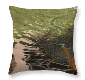 Monte Carlo Koi Fine Art Throw Pillow by Laura Davis