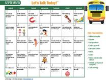 Let's Talk Today Calendar September