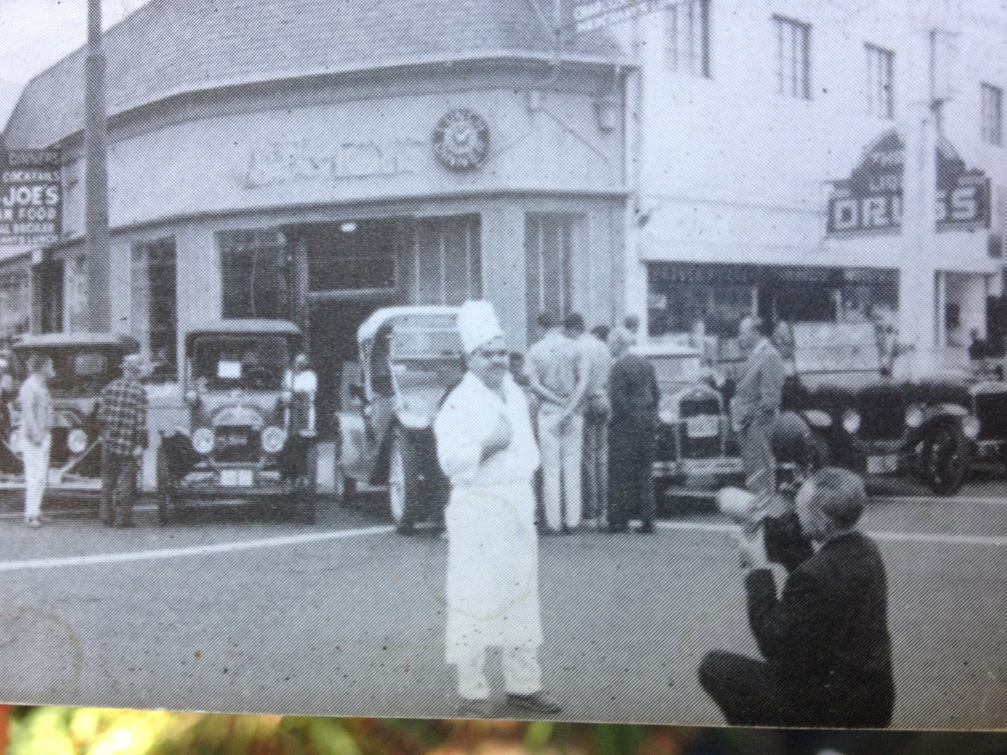 Vintage Bay Area Diner's Head Chef Posing for a Photograph