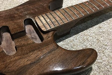 "HardWay Walnut and Copper Guitar, ""Cuper"""