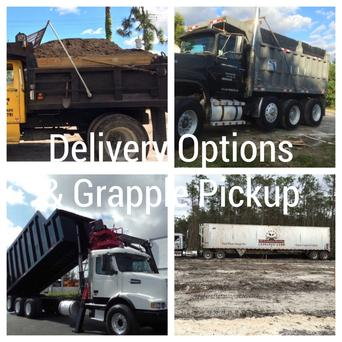 yard waste drop off & delivery dump trucks