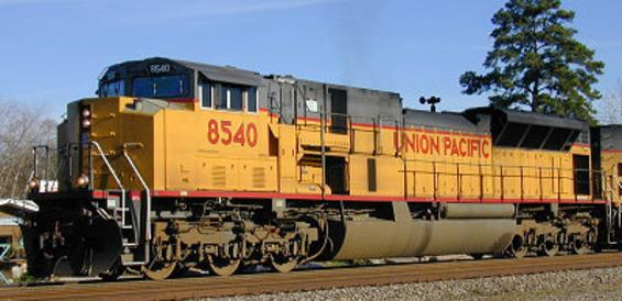 UP 8540, an SD90MAC Phase II.