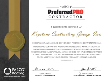 Pabco PreferredPRO Contractor certification; Pabco PreferredPRO roofer; Pabco PreferredPRO certified contractor; Houston PABCO PreferredPRO Certified roofer; houston roofer; certified Houston roofer; certified Houston roof contractors