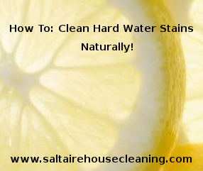 remove hard water stains without chemicals