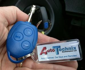 Ford Transit Blue Remote Key
