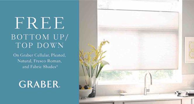 SALE, Garber BOTTOM UP / TOP DOWN Shades​​​​