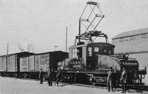The Milwaukee Road's ES-1 electric locomotive No. 10000, circa 1914.