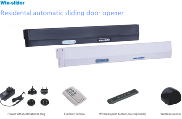 Residental automatic sliding door opener