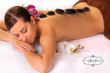 Hot Stone Massage at Salon Serenity Spa in Wake Forest, North Raleigh area NC