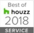 Best of Houzz service award badge 2018
