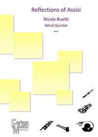 Reflections of Assisi for woodwind quintet sheet music available here