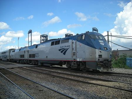 Amtrak P40DC No. 823 on the Texas Eagle.