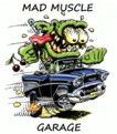 mad muscle garage logo