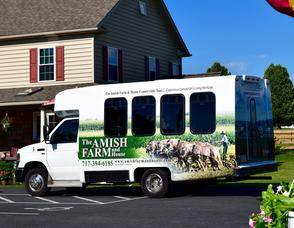 Amish countryside tour bus