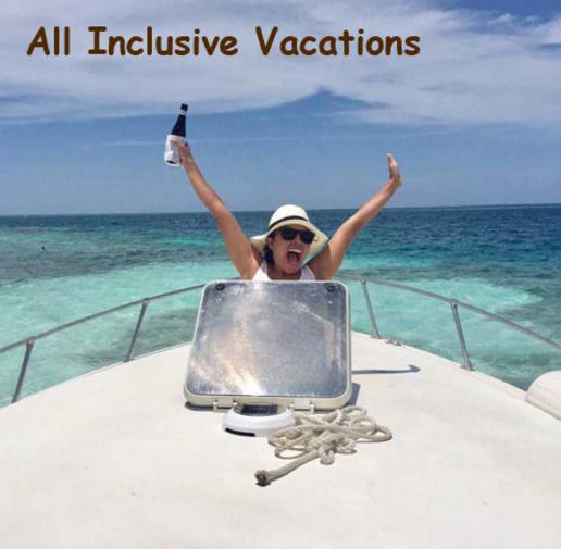 A woman pops up from the cabin window on a boat heading out for a snorkeling tour. All Inclusive Belize!